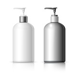 Set of Realistic cosmetic Dispenser bottle