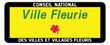 canvas print picture - Panneau : Ville et village fleurie
