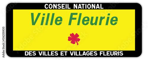 canvas print picture Panneau : Ville et village fleurie