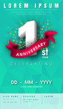 anniversary invitation card template design