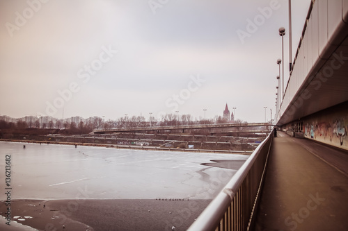 Gefrorene Donau in Wien Poster