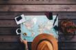 Tourist Planning tour using world map.