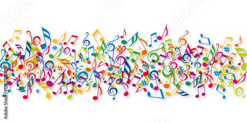 Fotobehang Muziek Notes de musique - Musique - Couleurs