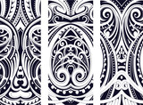Maory style ornament set