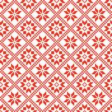 Traditional scandinavian pattern. Nordic ethnic seamless background