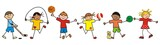 Fototapety children and sport, vector icon,