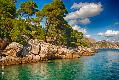 Fotobehang Summer seascape,Croatia