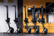 Rowing machines for cross-fit training at the gym