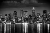 Seattle Night in Black and White - 136246070