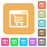 Webshop application rounded square flat icons