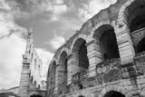Ancient Verona Arena (black and white)