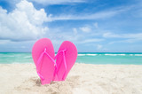 Valentines day background on the Miami beach