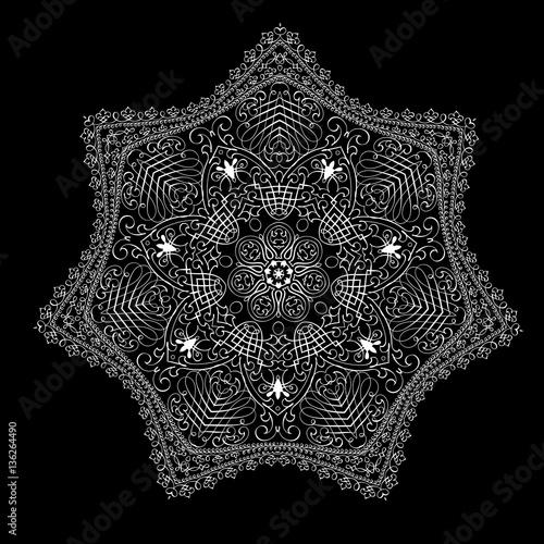 Vector  calligraphical mandala - 136264490