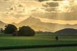 Mount Warning Light Rays Sunset