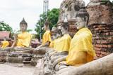 antique buddha statue, Ayutthaya, Thailand