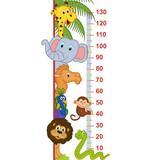 zoo animal height measure - vector illustration, eps - 136270400