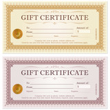 Certificate gift coupon template