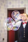 шоу мыльных пузырей на дне рождения