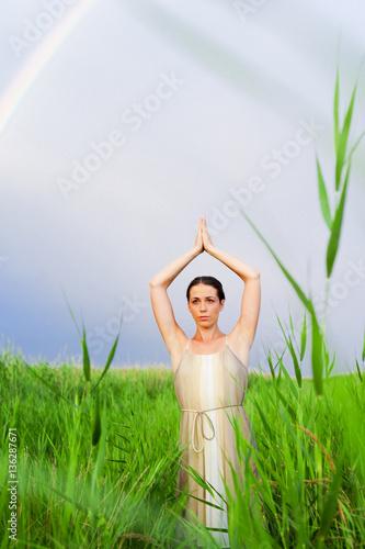 Papiers peints Fantastique Paysage Young beautiful woman (model-released)