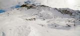 Valmalenco (IT) - Vista aerea invernale del Rifugio Cristina e Pizzo Scalino