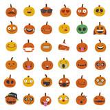 Pumpkin Emoji illustrations - 136292417