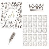 Floral monogram alphabet - 136295036
