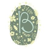Floral Monogram Letter B - 136297697