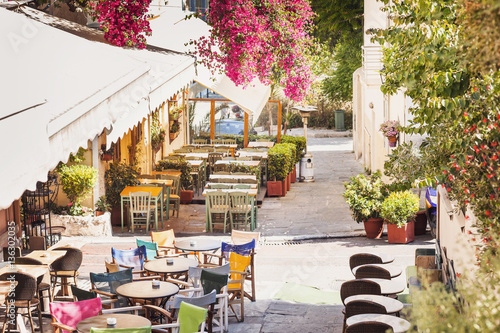 Beautiful street in the old district of Plaka in Athens, Greece © kite_rin