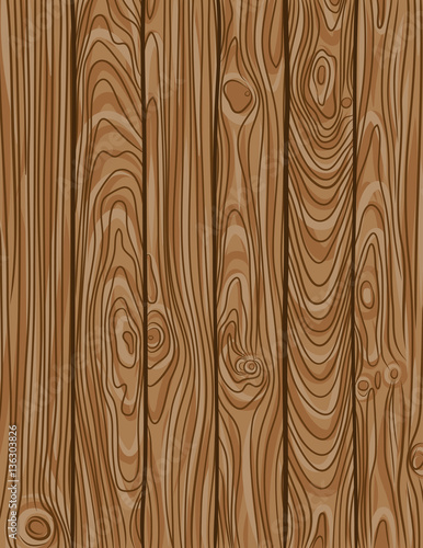 vector illustration of old wooden planks texture - 136303826
