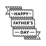 Happy Fathers day emblem isolated vector illustration on white background. 18 june world family holiday event label, greeting card decoration graphic element