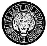 Tee graphic design animal logo tiger