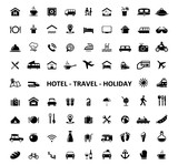 Icons Hotel Travel Holiday - 136312876