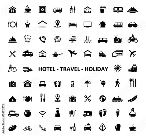 Icons Hotel Travel Holiday