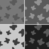 Set of butterflies patterns