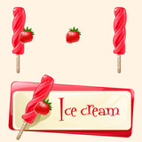 Vector banner with ice cream