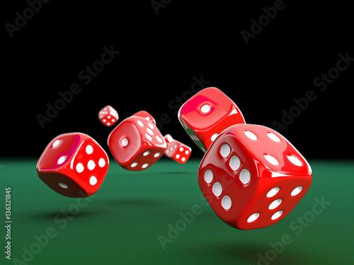 3d classic dice