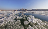 The Danube at wintertime in Budapest