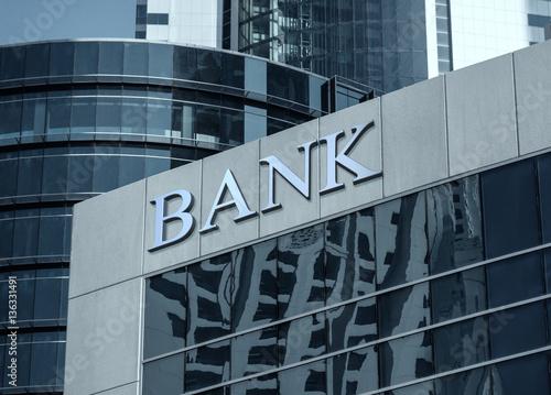 Naklejka Budynek banku
