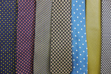Close up Collection Of Silk Neck Ties