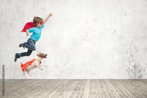 Fototapeta Flying boy