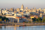 Old Havana at dawn with a view of the bay and several landmarks
