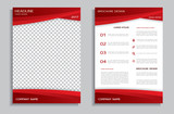 Red brochure design template
