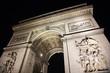 Arc de Triumph by night. In Paris, France.