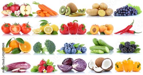 Obst und Gemüse Früchte Sammlung Apfel Tomaten Orange Paprika