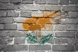 painted national flag of cyprus on a brick wall