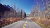 Color toned scenic road, travel concept, USA