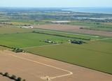 aerial view of a rural airport near Leamington Ontario Canada