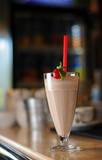 milkshake on wooden background