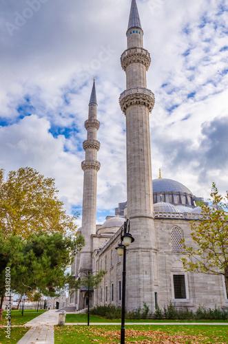 Poster Suleymaniye mosque in Istanbul, Turkey