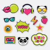 Trendy color patches, stickers and pins - 136384663